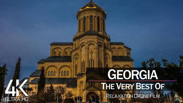 【4K】¼ HOUR DRONE FILM: «The Beauty of Georgia 2021» | Ultra HD | Chillout Music (Ambient TV)