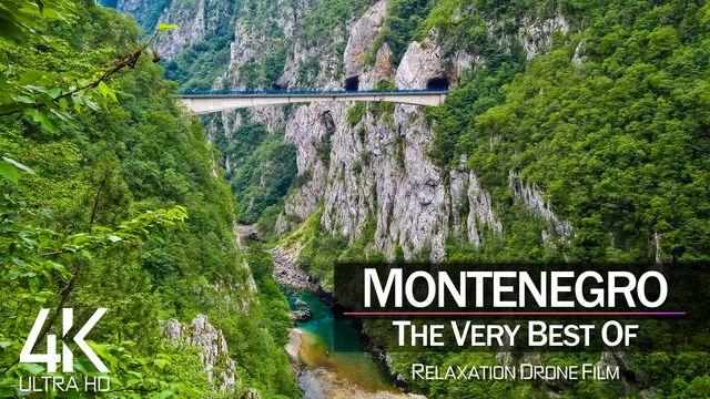 【4K】½ HOUR DRONE FILM: «The Beauty of Montenegro 2021» | Ultra HD | Chillout Music (AmbientTV)