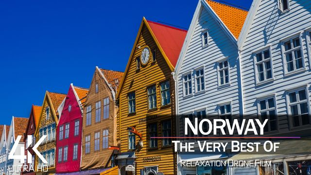 【4K】½ HOUR DRONE FILM: «The Beauty of Norway 2021» | Ultra HD | Chillout Music (Ambient TV)