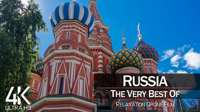【4K】¼ HOUR DRONE FILM: «The Beauty of Russia 2021» | Ultra HD | Chillout Music (Ambient TV)
