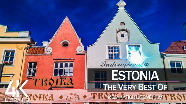 【4K】½ HOUR DRONE FILM: «The Beauty of Estonia 2021» | Ultra HD | Chillout Music (Ambient TV)