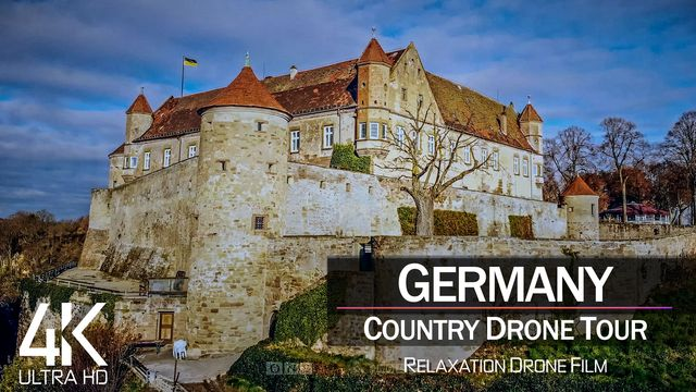 【4K】1 ¾ HOUR DRONE FILM: «Germany» | Ultra HD | Chillout Music (for 2160p Ambient UHD TV)