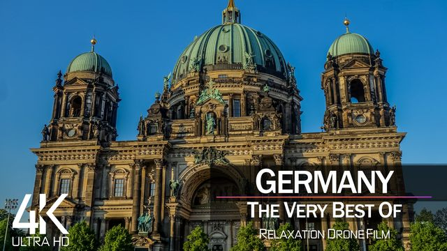 【4K】½ HOUR DRONE FILM: «The Beauty of Germany 2021» | Ultra HD | Chillout Music (Ambient TV)