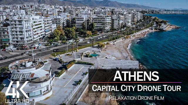 【4K】½ HOUR DRONE FILM: «Athens - Greece» | Ultra HD | Chillout Music (2160p Ambient UHD TV)