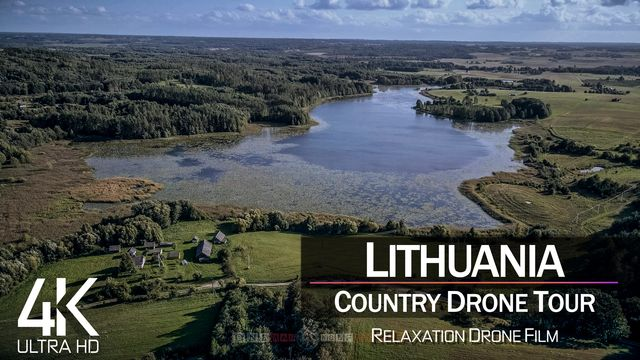 【4K】¼ HOUR DRONE FILM: «The Nature of Lithuania» | Ultra HD | Chillout (2160p Ambient UHD TV)
