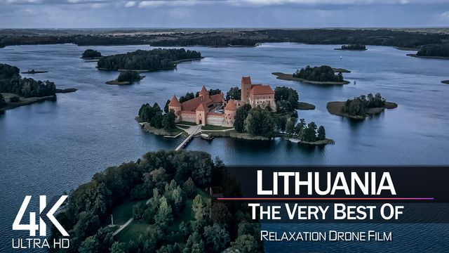 【4K】½ HOUR DRONE FILM: «The Beauty of Lithuania 2021» | Ultra HD | Chillout Music (Ambient TV)