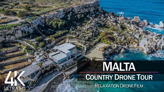 【4K】½ HOUR DRONE FILM: «The Beauty of Malta» | Ultra HD | Chillout (for 2160p Ambient UHD TV)