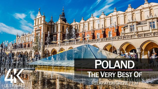 【4K】¾ HOUR DRONE FILM: «The Beauty of Poland 2021» | Ultra HD | Chillout Music (Ambient TV)