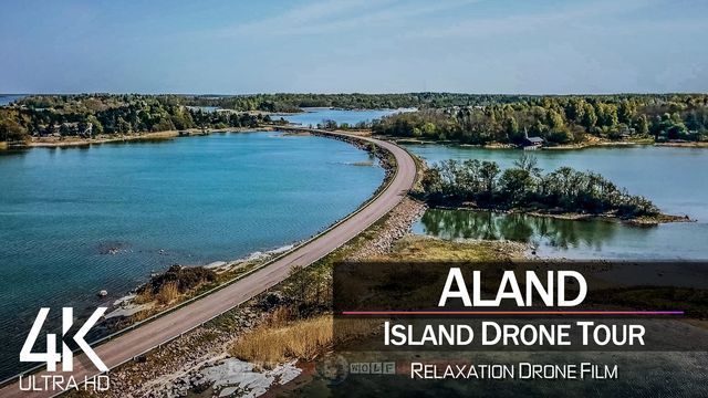 【4K】¼ HOUR DRONE FILM: «Åland Islands» | Ultra HD | Chillout Music (for 2160p Ambient UHD TV)