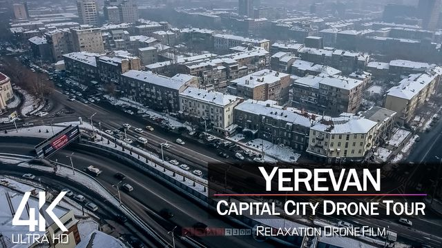 【4K】¼ HOUR DRONE FILM: «Yerevan - Armenia» | Ultra HD | Chillout Music (2160p Ambient UHD TV)