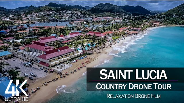 【4K】½ HOUR DRONE FILM: «The Beauty of St. Lucia» | Ultra HD | Chillout (2160p Ambient UHD TV)