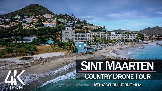 【4K】½ HOUR DRONE FILM: «The Beauty of Sint Maarten» | Ultra HD | Chillout (2160p Ambi UHD TV)