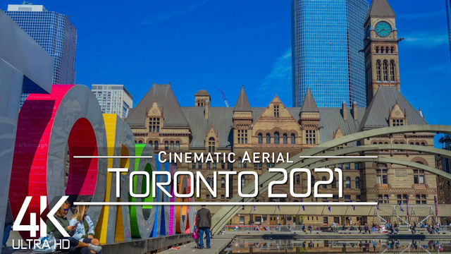 【4K】Toronto from Above | CANADA 2021 | Cinematic Wolf Aerial™ Drone Film