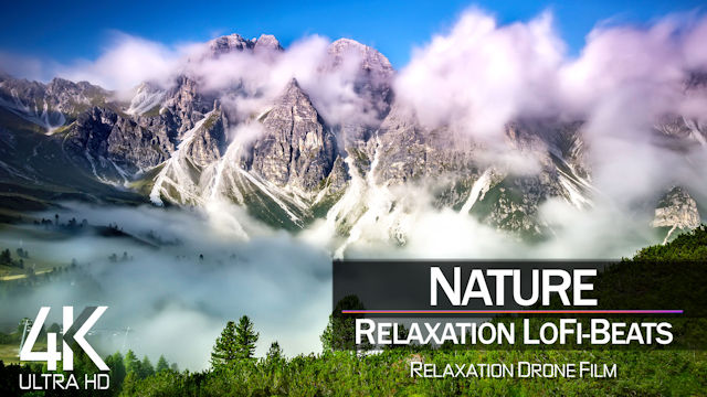 【4K】1 HOUR DRONE FILM: «Nature Relaxation» | Ultra HD | Lo-Fi Music (for 2160p Ambient UHD TV)