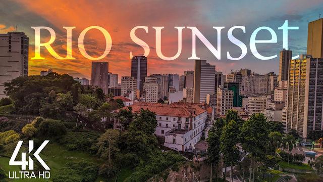 【4K】4 HOUR RELAXATION FILM: «Downtown Rio de Janeiro - From Day to Night» | Original Sound