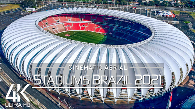 【4K】12 Stadiums of | BRAZIL Serie A + Serie B 2021 | Cinematic Wolf Aerial™ Drone Film