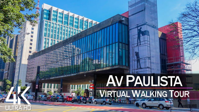 【4K 60fps】VIRTUAL WALKING TOUR: «Sao Paulo - Avenida Paulista 2021» | City Sounds Ultra HD