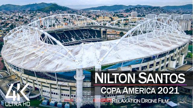 【4K】Estadio Nilton Santos from Above | COPA AMERICA 2021 Brazil | Cinematic Wolf™ Drone Film