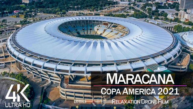 【4K】Estadio Maracana from Above | COPA AMERICA 2021 Brazil | Cinematic Wolf™ Drone Film