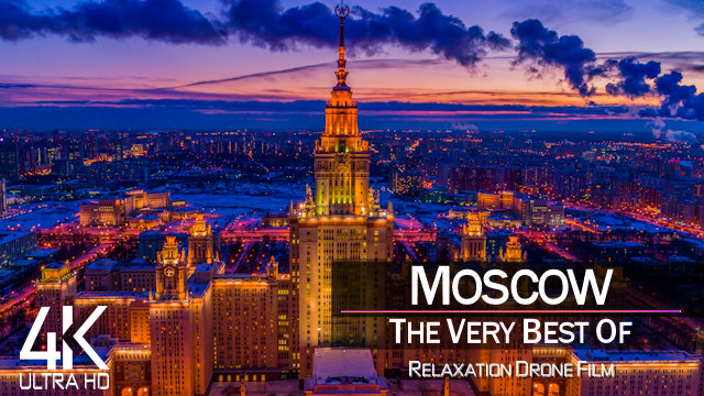 【4K】Moscow from Above | Capital of RUSSIA 2021 |