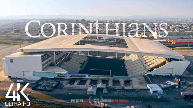 【4K】Arena Corinthians from Above | BRAZIL 2021 | Neo Quimica Stadium Cinematic Wolf Drone™ Film