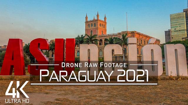 【4K】Drone RAW Footage | This is PARAGUAY 2021 | Asuncion | Ciudad del Este | UltraHD Stock Video
